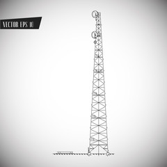 TV Tower vector