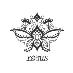 Decorative vector lotus flower