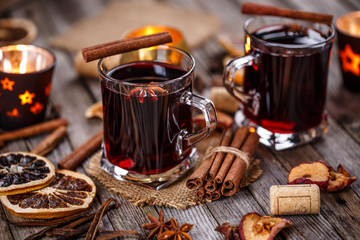 Hot wine for winter Wall mural