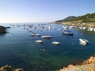 Costa Brava en pueblo de Tamariu, en girona  cataluña españa