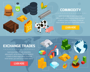 Commodity Horizontal Banners Set
