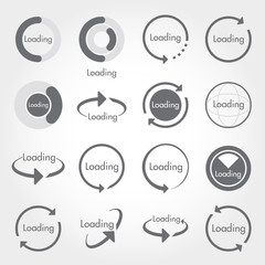set of loading icons