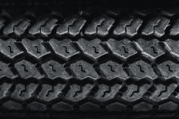 vintage old motorcycle tire texture pattern.