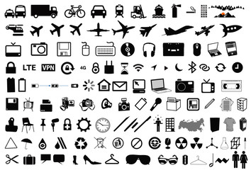vector objects icons pictograms signs