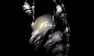 Abstract fractal image of wolf. Wallpaper. Creative digital artwork