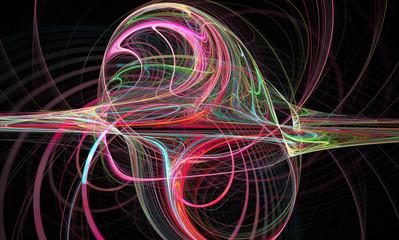 Abstract fractal image. Wallpaper. Creative digital artwork.