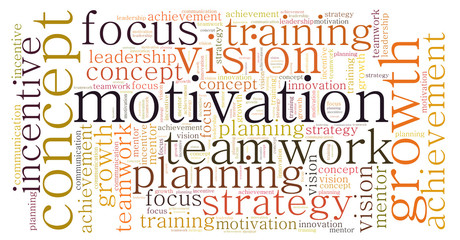 Concept Motivation word cloud