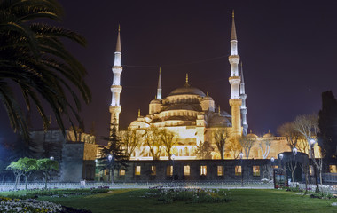 ISTANBUL, TURKEY - April 10, 2014: The Blue Mosque on April 10,