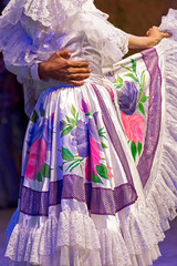 Young dancers from Colombia in traditional costume