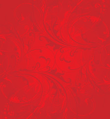 Red background floral