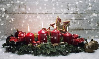 Heiligabend Kerzen