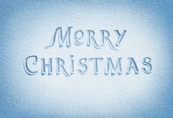 Merry Christmas! Snow Background in blue tone. High resolution product, top view