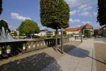 Stadtansicht  und Kurpark des Staatsbades Bad Kissingen, Unterfranken, Bayern, Deutschland