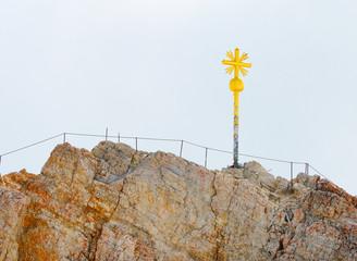 The Zugspitze summit.. It is Germany's highest peak (2962 m).