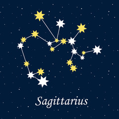 constellation Sagittarius zodiac horoscope astrology stars night