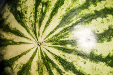 Closeup of a watermelon.