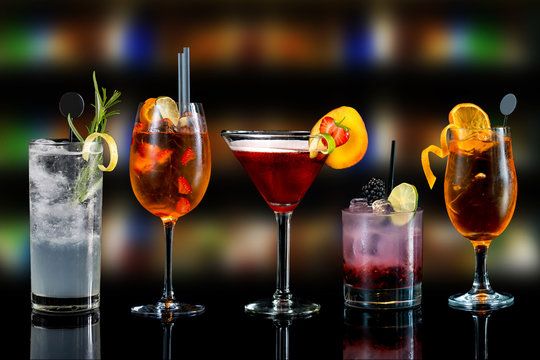 Cocktails drinks alcoholic mix