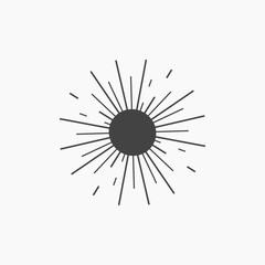 Sun icon illustration isolated vector sign symbol