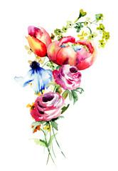 Decorative summer flowers