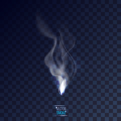 vector smoke on checkered transparent background illustration. p
