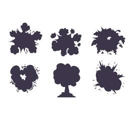 Boom explosion vector illustration.