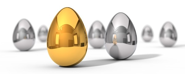 illustration of easter eggs.