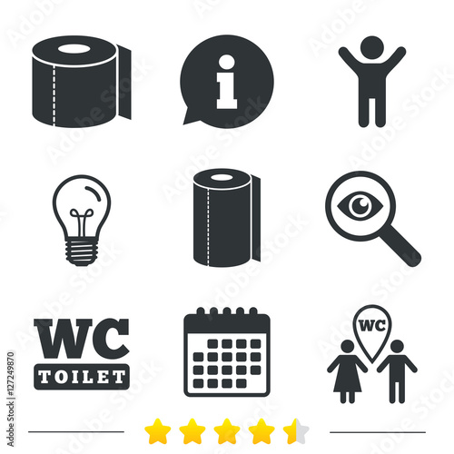 Toilet Paper Icons Gents And Ladies Room Signs Paper Towel Or