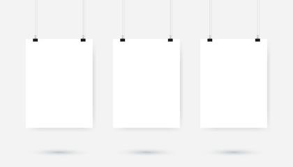Poster binder clip