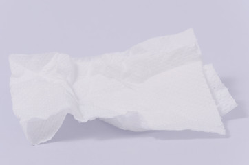 Tissue paper isolated on white background