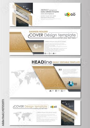 Social media and email headers set modern banner templates cover social media and email headers set modern banner templates cover design template flat altavistaventures Images