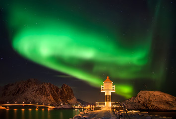 Lighthouse and Aurora