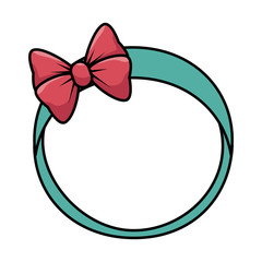cute female headband icon vector illustration design