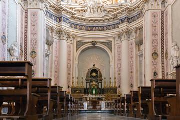 18th century Basilica San Salvatore in Noto, Sicily, Italy