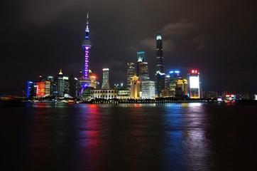 Night view of the Shanghai skyline