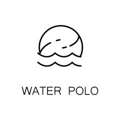 Water polo flat icon or logo for web design.
