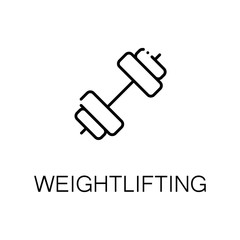 Weightlifting flat icon or logo for web design.