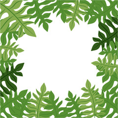 Tropical leaves icon. Nature plant  botany summer and natural theme. Vector illustration