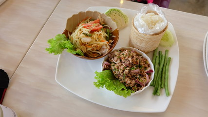 papaya salad set