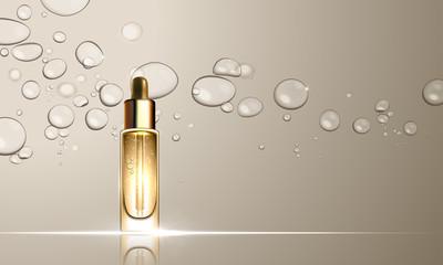 Collagen serum bottle skincare treatment design