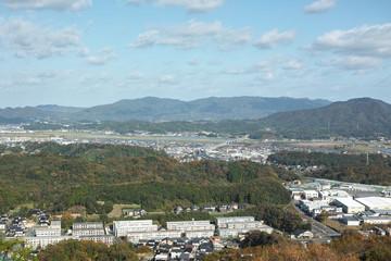松江市 市街地 東部 鳥瞰