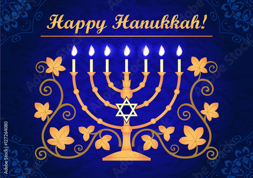 Happy hanukkah greeting card stock image and royalty free vector happy hanukkah greeting card m4hsunfo