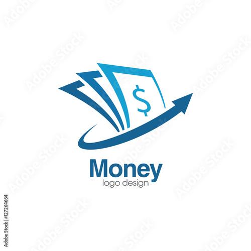 """""""Money Creative Concept Logo Design Template"""" Stock Image"""