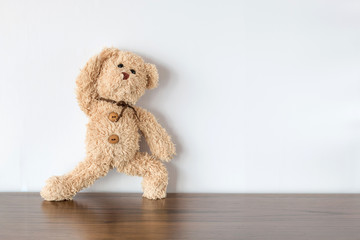 teddy bear exercising
