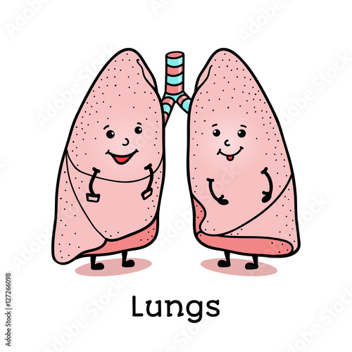 unhealthy lungs clipart