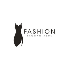 Fashion icon logo design vector