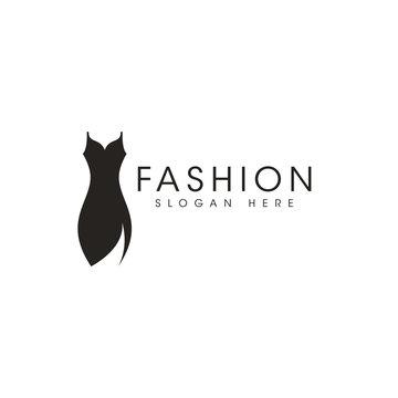 Fashion icon logo design vector