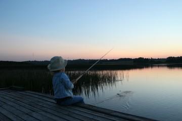 Рыбылка на закате