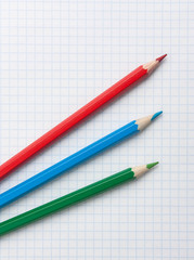 red  green blue pencils