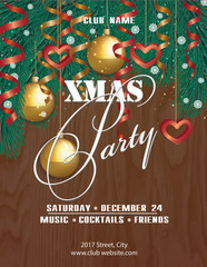 Poster Christmas party. New, original,  trendy