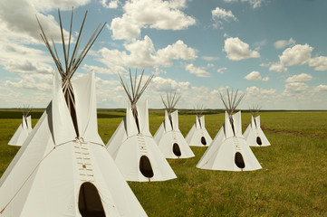 Plains Indians Camp in the Prairie